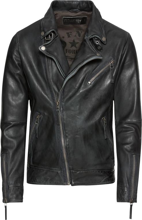 Czarna kurtka Freaky Nation w rockowym stylu