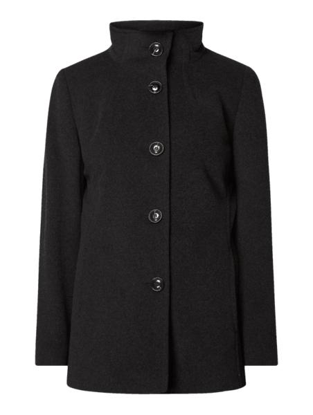 Czarna kurtka Fuchs Schmitt długa w stylu casual