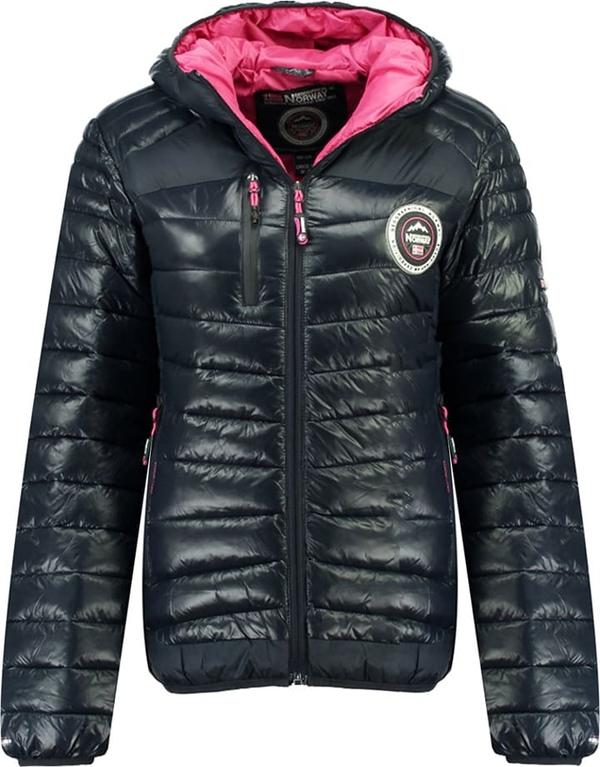 Czarna kurtka Geographical Norway w stylu casual