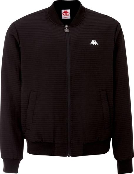 Czarna kurtka Kappa krótka w stylu casual