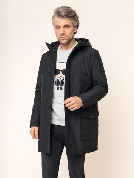 Czarna kurtka Karl Lagerfeld w stylu casual