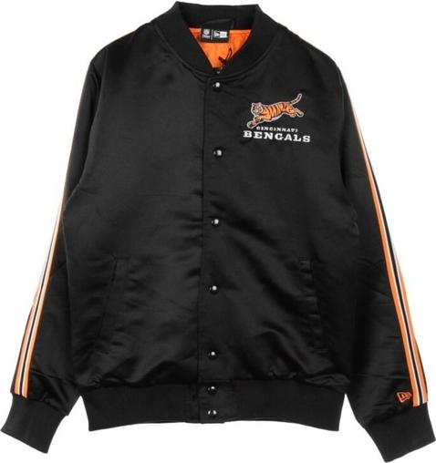 Czarna kurtka New Era krótka z bawełny