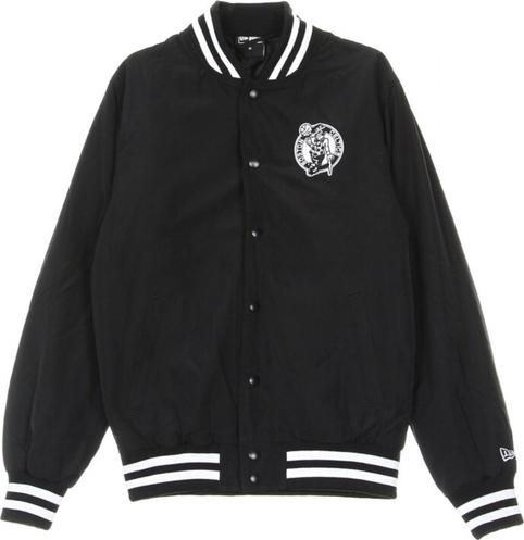 Czarna kurtka New Era z bawełny