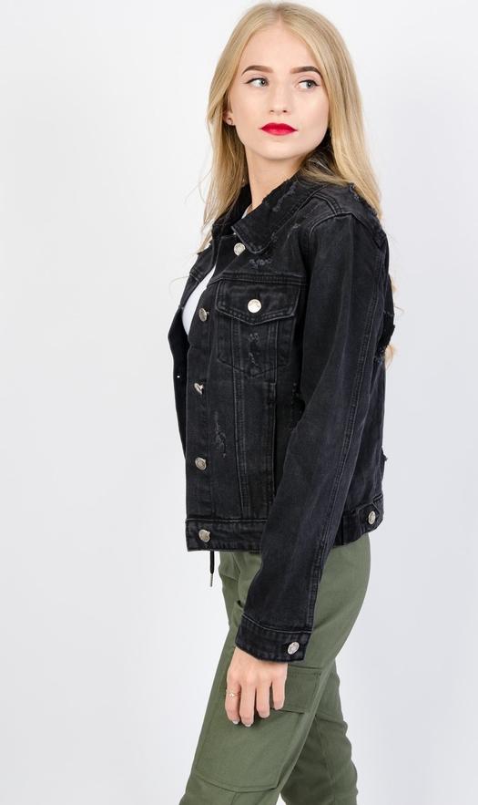 Czarna kurtka Olika w stylu casual krótka