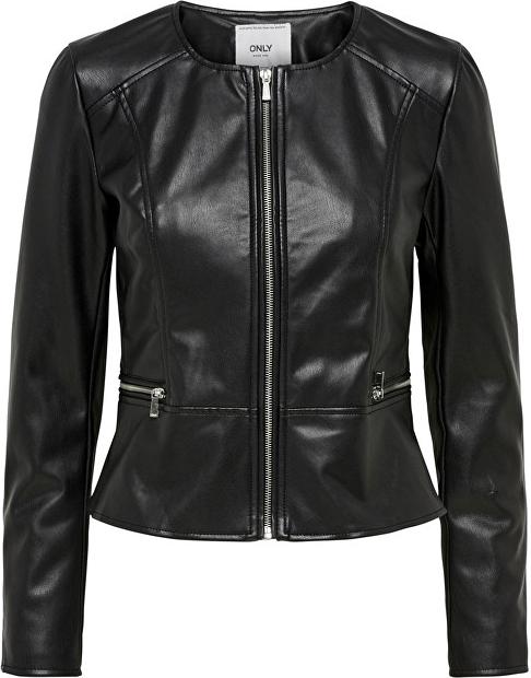 Czarna kurtka Only w rockowym stylu krótka
