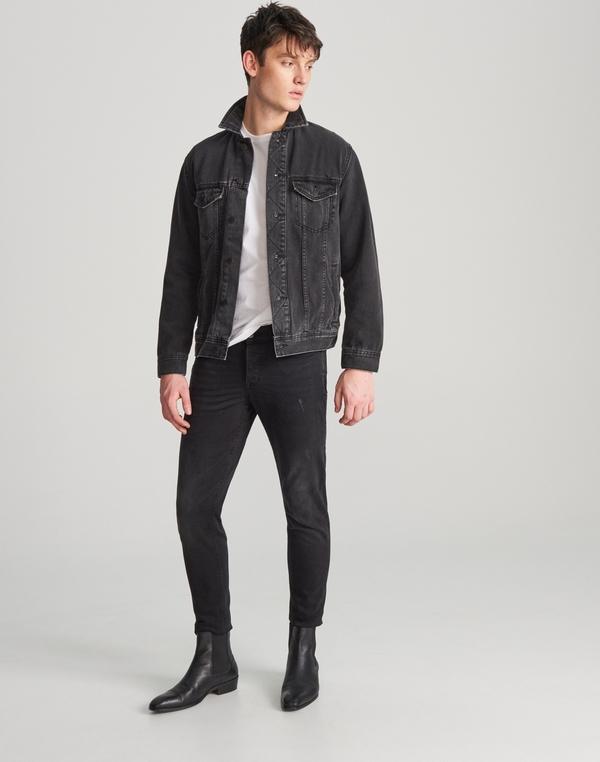 Czarna kurtka Reserved w stylu casual z jeansu