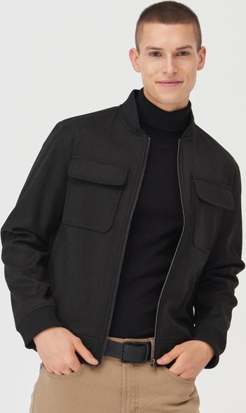 Czarna kurtka Sinsay w stylu casual