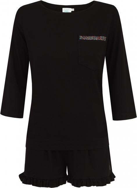 Czarna piżama L'af Sleep Wear - Piżamy