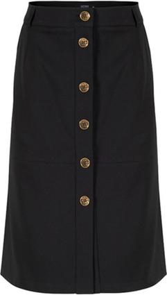 Czarna spódnica ECHO mini z bawełny