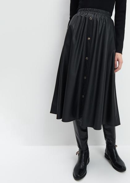 Czarna spódnica Mohito midi