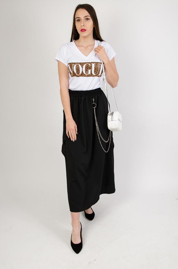 Czarna spódnica Olika w stylu casual