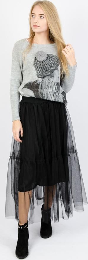 Czarna spódnica Olika z tiulu