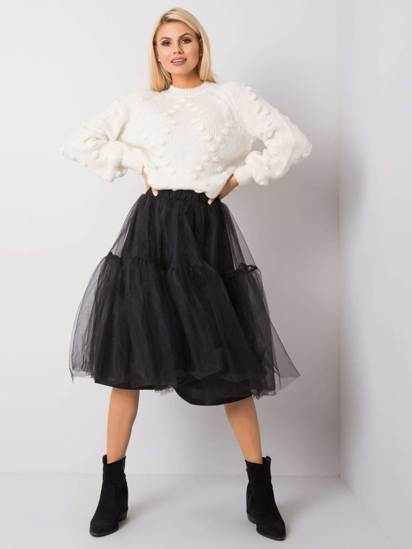 Czarna spódnica Sheandher.pl midi z tiulu