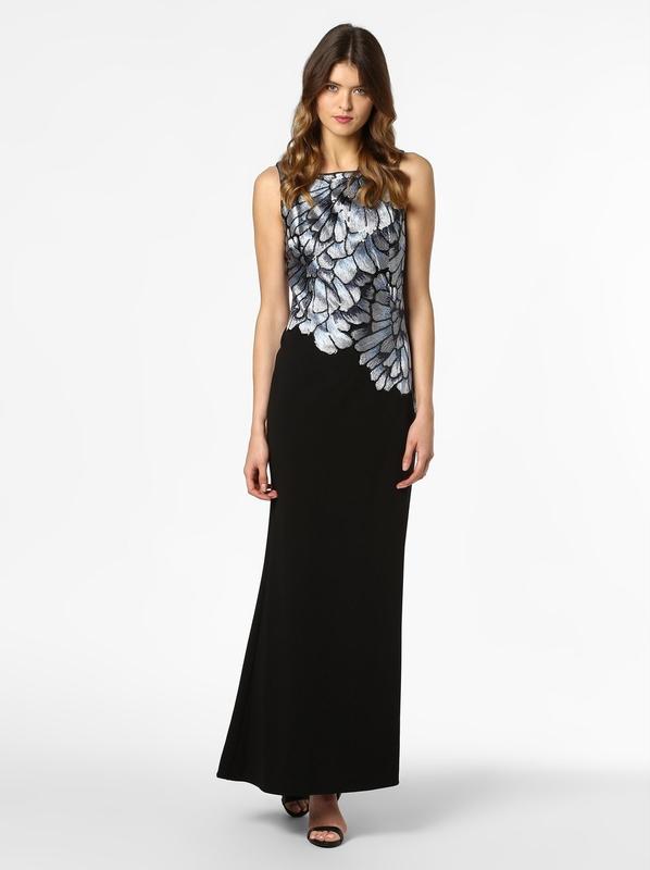 Czarna sukienka Adrianna Papell z okrągłym dekoltem bez rękawów prosta