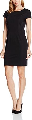 Czarna sukienka amazon.de z okrągłym dekoltem