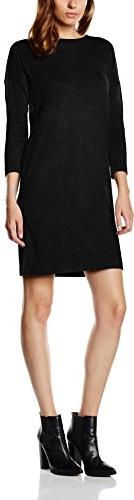 Czarna sukienka amazon.de z okrągłym dekoltem w stylu casual