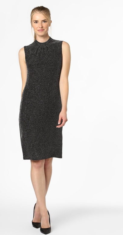 Czarna sukienka Ambiance prosta bez rękawów