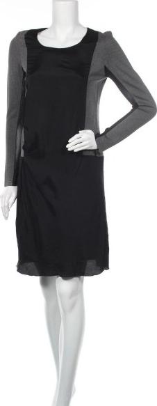 Czarna sukienka Apriori z długim rękawem