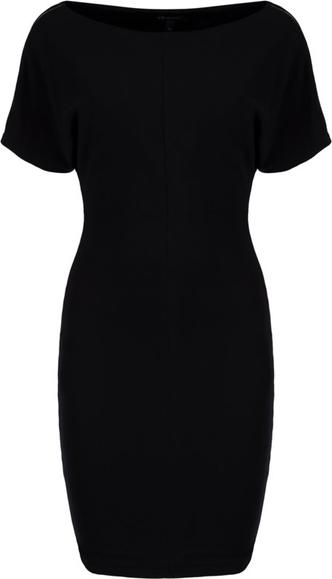 Czarna sukienka Armani Jeans z dekoltem w łódkę mini