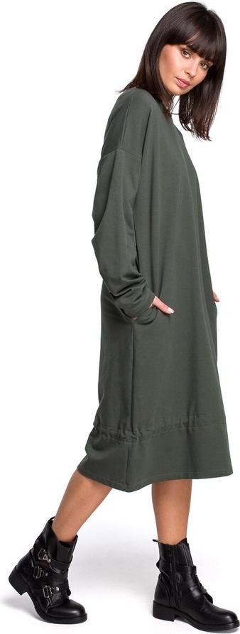 Czarna sukienka BeWear midi