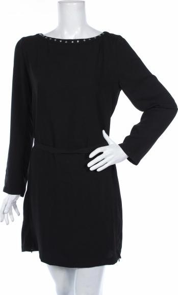 Czarna sukienka Blanco mini z okrągłym dekoltem prosta