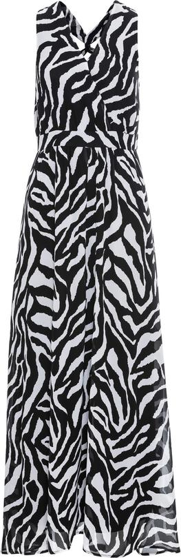 Czarna sukienka bonprix bodyflirt boutique bez rękawów na sylwestra rozkloszowana