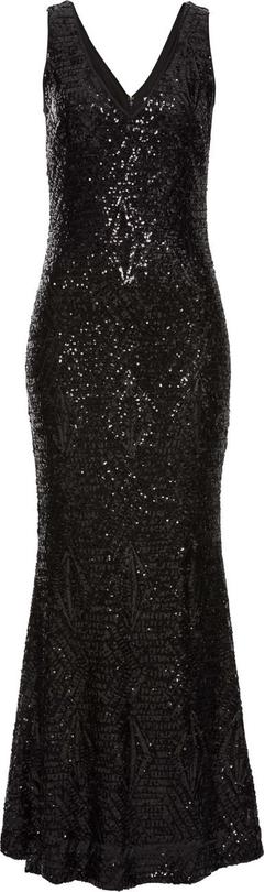 Czarna sukienka bonprix bodyflirt boutique rozkloszowana na randkę z aplikacją