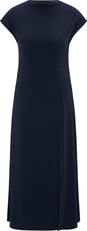 Czarna sukienka BROADWAY NYC FASHION maxi z okrągłym dekoltem z krótkim rękawem