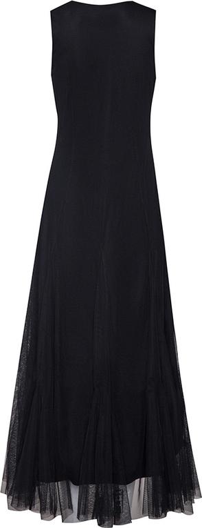 Czarna sukienka Byinsomnia na ramiączkach z dekoltem w kształcie litery v maxi