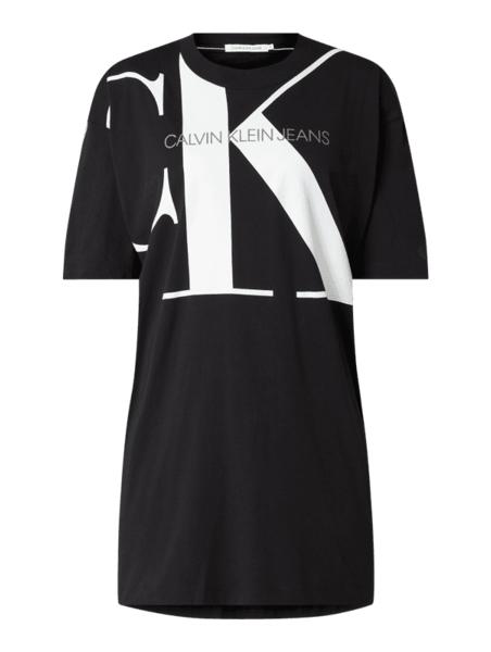 Czarna sukienka Calvin Klein z długim rękawem mini w stylu casual
