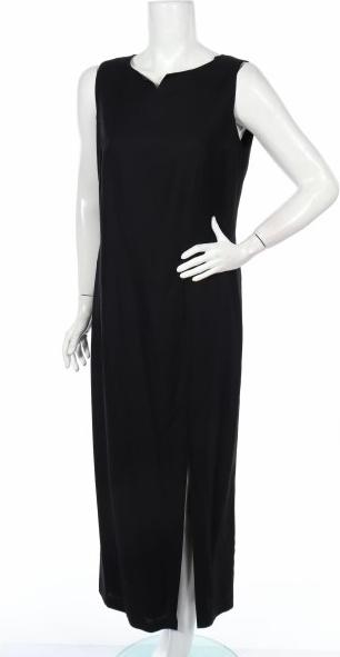 Czarna sukienka CANDA prosta bez rękawów maxi