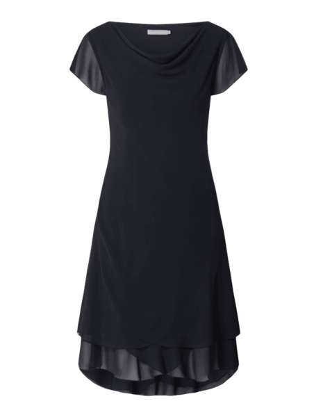 Czarna sukienka Christian Berg Cocktail z szyfonu mini