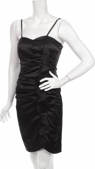 Czarna sukienka Club Frendy prosta mini