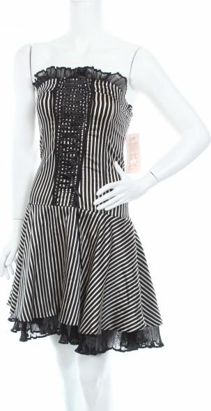 Czarna sukienka Cyf gorsetowa
