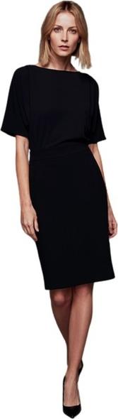 Czarna sukienka ECHO z okrągłym dekoltem