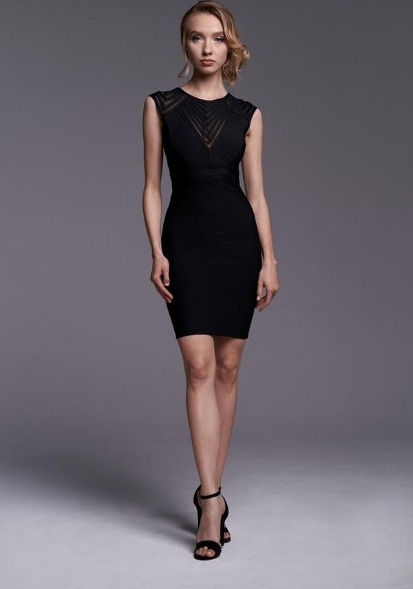 Czarna sukienka Ella Boutique bez rękawów ołówkowa