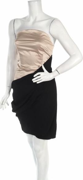 Czarna sukienka Eva Evanovich gorsetowa mini