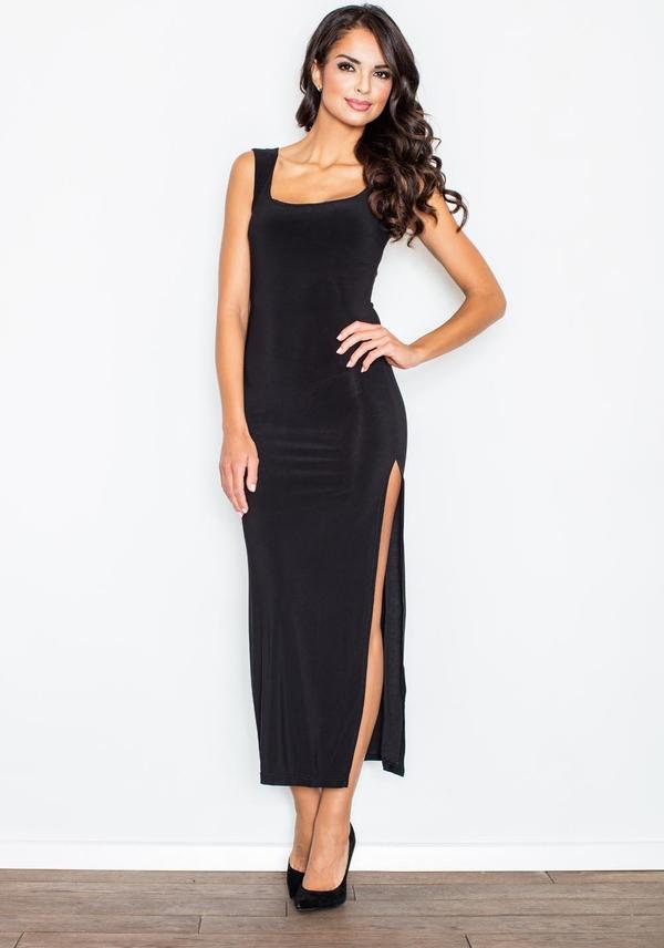 Czarna sukienka Figl maxi