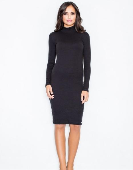 Czarna sukienka Figl midi z golfem