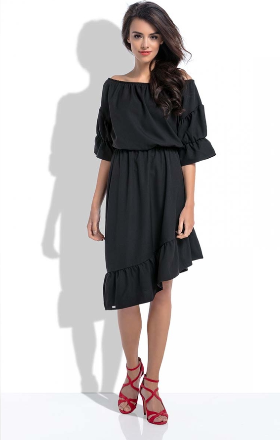 Czarna sukienka Fobya hiszpanka