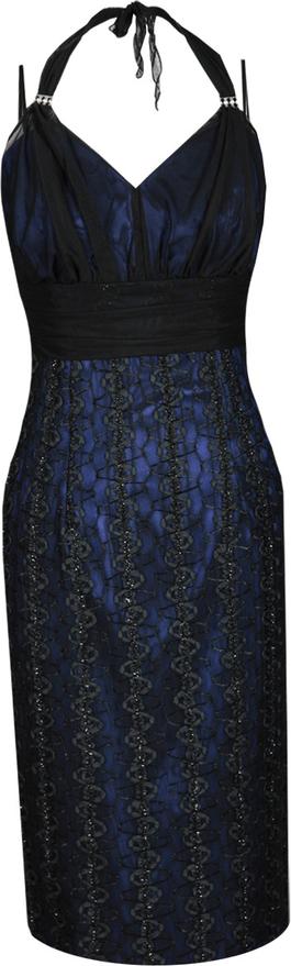Czarna sukienka Fokus midi ołówkowa