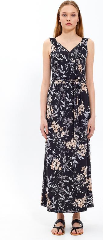 Czarna sukienka Gate maxi z dekoltem w kształcie litery v w stylu casual