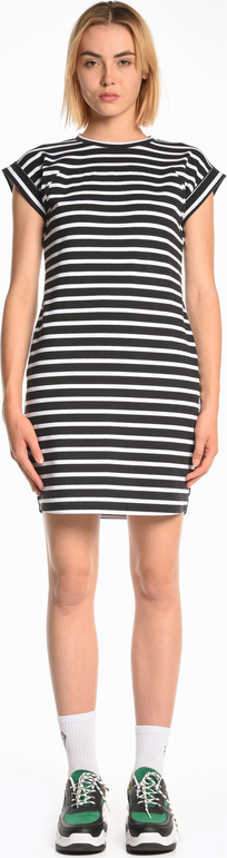 Czarna sukienka Gate z krótkim rękawem w stylu casual mini