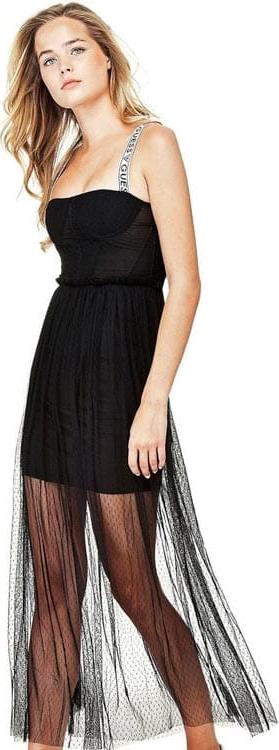 Czarna sukienka Guess maxi