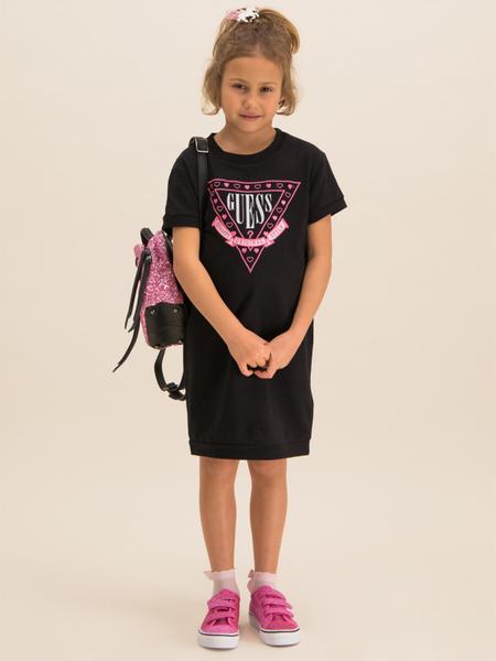 Czarna sukienka Guess mini prosta