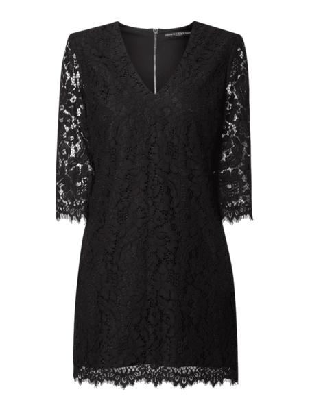 Czarna sukienka Guess z bawełny z długim rękawem mini
