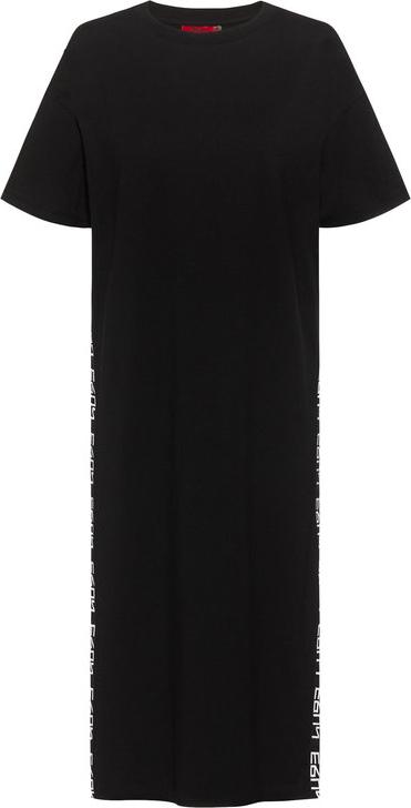 Czarna sukienka Hugo Boss w stylu casual