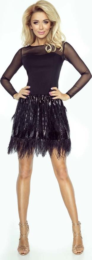 Czarna sukienka Imesia z długim rękawem