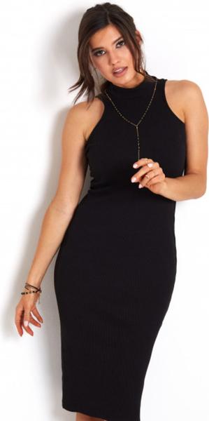 Czarna sukienka Ivon bez rękawów