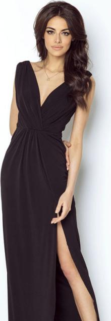 Czarna sukienka Ivon z dekoltem w kształcie litery v